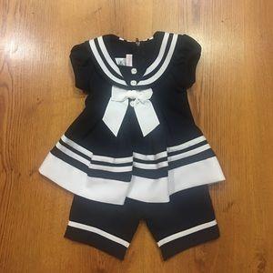 Bonnie baby sailor suit size 0-3 months