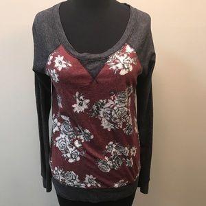 🧜🏻♀️NOLLIE long sleeves sweater gray burgundy