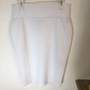 Thalia Sodi White scuba pencil skirt Sz M
