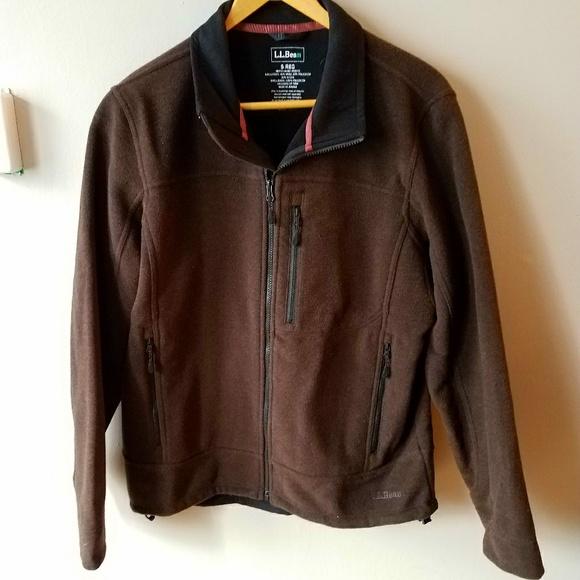 Ll bean mens leather jacket
