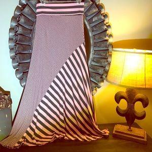 Roll over waisted maxi skirt