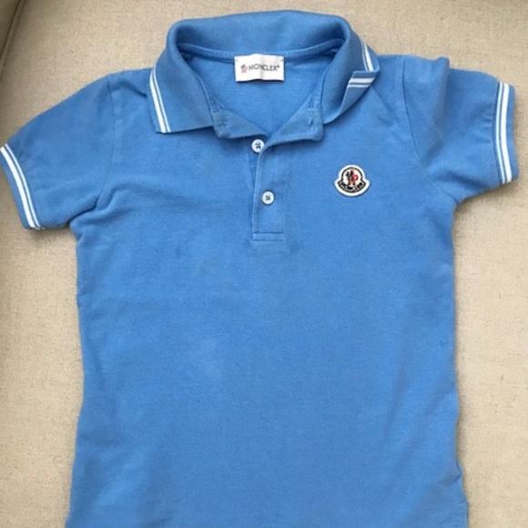 Moncler Blue Polo Boy 4 Y
