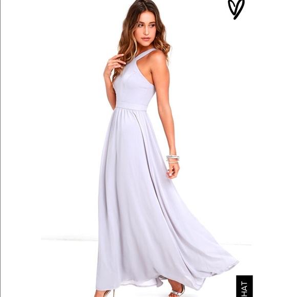 f2ad17b289748 Lulu's Dresses | Air Of Romance Grey Maxi Dresslulus | Poshmark