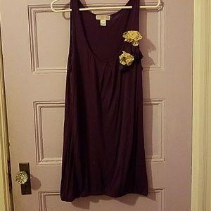 Purple tunic top