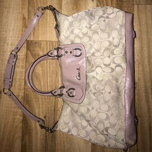 Coach Purse with Light Purple