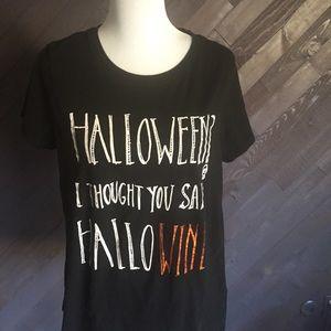 Halloween /Hallowine T-shirt 🎃🥂🍷