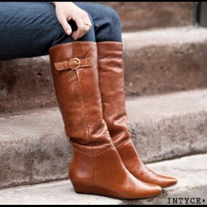 Steven by Steve Madden Leather Intyce Boots