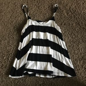 Lulu's black and white stripe tank top