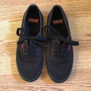 Levi's Shoes | Black Levis Vans | Poshmark