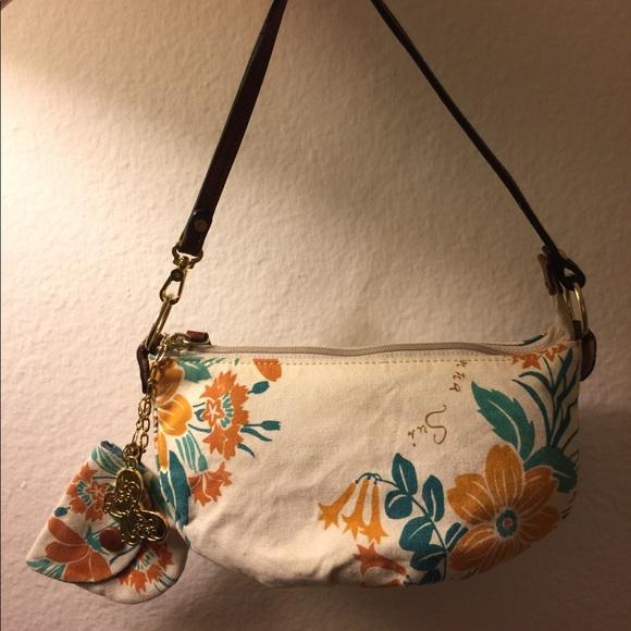 Anna Sui Handbags - Anna Sui Floral Canvas Clutch w Coin Purse 2b6e685533