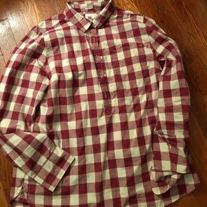 J Crew Perfect Fit Plaid Pullover