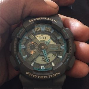 Blue and grey g shock for sale