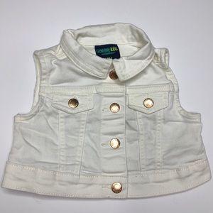Genuine Kids Jackets & Coats - 4 FOR 20 - Genuine Kids White Denim Vest