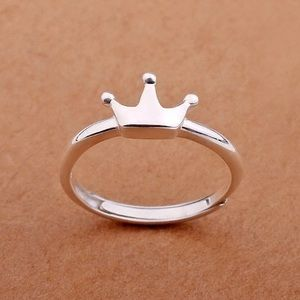 Jewelry - Princess Crown 925 Sterling Ring