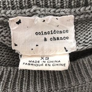Urban Outfitters Sweaters - Coincidence & Chance Gray Heart Intarsia Sweater