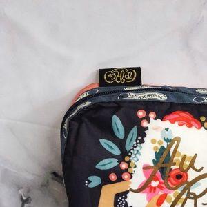 Everyday Bonjour Print Rectangular Cosmetic Bag
