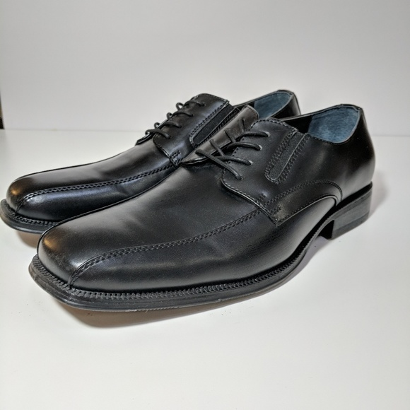 MENS ALFANI BLACK DRESS SHOES size 11 med VERY NICE!