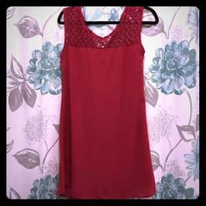 Dresses & Skirts - Sleeveless fuschia/deep pink dress