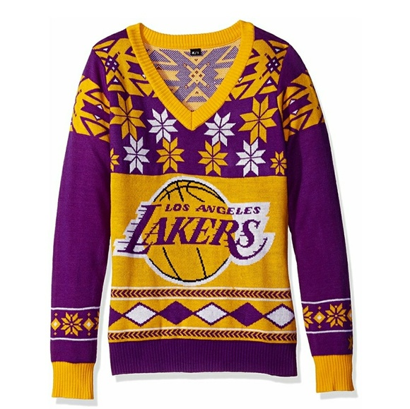 NWT Los Angeles Lakers ugly Christmas sweater. M 59f6802668027804950855f1 83de29fdc