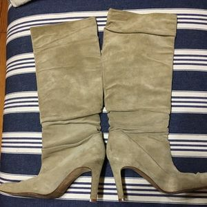 Banana Republic Shoes - Knee high camel colored suede boots