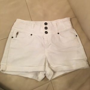 Bebe high waisted shorts in white size 28