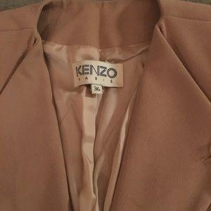Kenzo Silk & Néoprène Beige Blazer