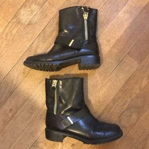 ZARA Vegan Leather Biker Boots Size 7