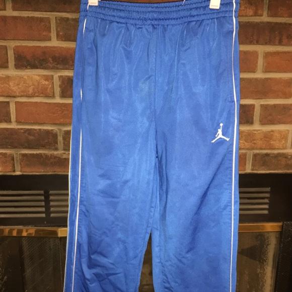 Blue Air Jordan Sweatpants Boys Lg 213