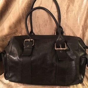 Authentic Hype Black Leather Handbag Satchel