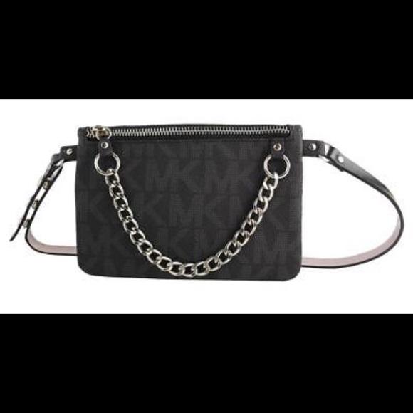 72a6a013b9f7fc Michael Kors Fanny Pack Belt Bag Black MK LOGO. M_59f68b83620ff7139908ae64