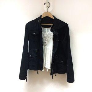 Black Utility Jacket — AEROPOSTALE