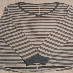Loose fitting long sleeve top