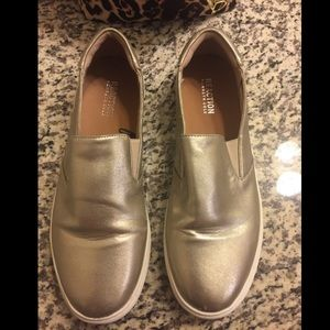 Kenneth Cole Mixed Silver/Gold Slip-Ons