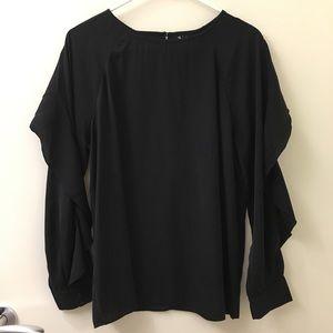 Fancy black silky top!