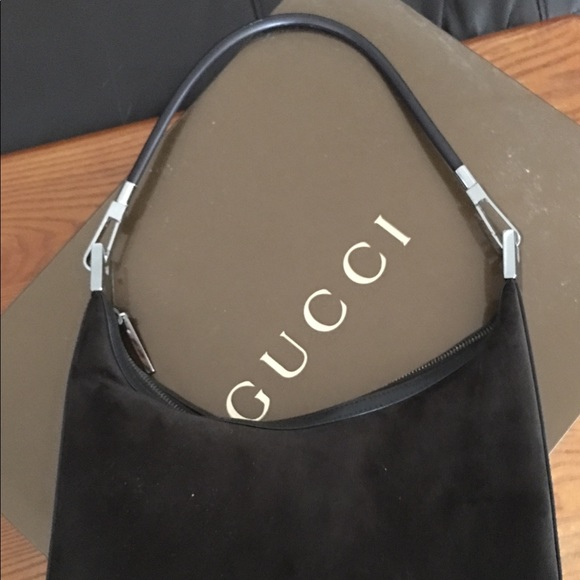 Gucci Handbags - Gucci Vintage Suede Hobo bag b2ed7e69cf731