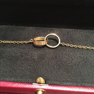 561e4f306e97d Cartier interlocking LOVE bracelet in Pink Gold