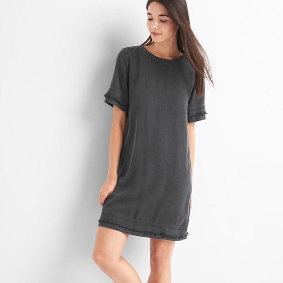 c6dea9104d1a9 GAP Dresses & Skirts - NWT Gap Tencel Denim T Shirt Dress in Grey