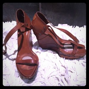 Authentic YSL brown sandals sz36