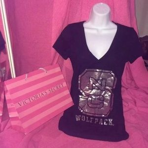 Tops - VS PINK NC STATE BLING TEE