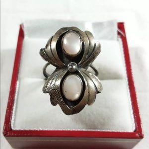 Jewelry - Vintage Mother Of Pearl 925 Ring Sz6.5
