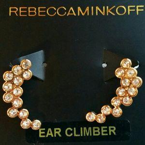 NWT Rebecca Minkoff 12k Gold Ear Climbers