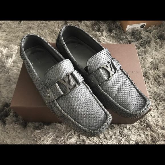 20db215a278 Louis Vuitton python monte carlo drivers shoes