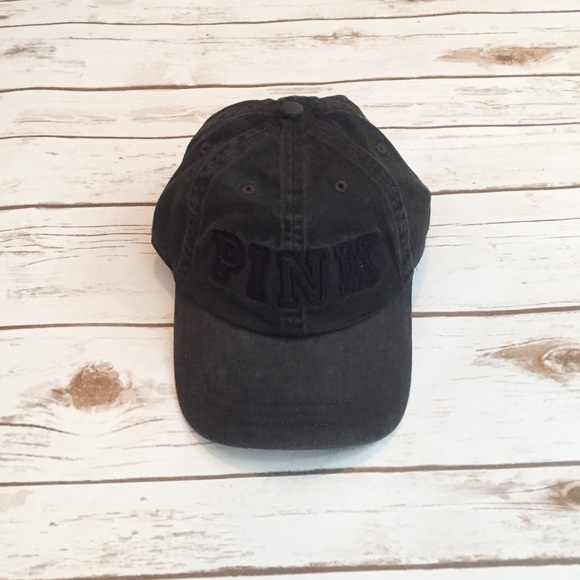 d7501e5f6b6 Victoria s Secret PINK Washed Black Baseball Hat