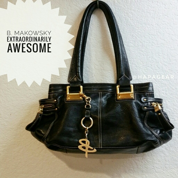 B. Makowsky Bags   Bmakowsky Leather Handbag Wdustbag   Poshmark 46b829a227