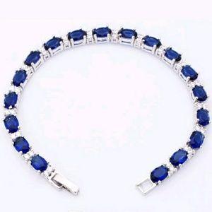 Jewelry - 18k WGP Saphire CZ tennis bracelt