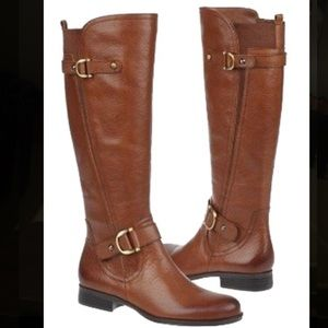 NIB! Naturalizer Jersey Wide Calf Leather Boots