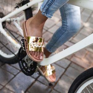 Catherine Malandrino Shoes - Metallic Chain Slides