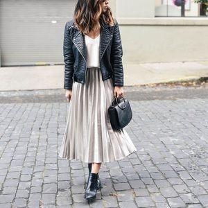 ASOS tulle Midi Skirt with metallic underlayer