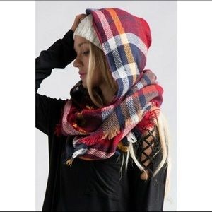 Accessories - New hooded infinity blanket scarf.