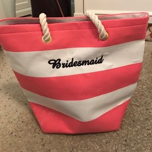 Embroidered Bridesmaid Beach Tote NEW & UNUSED